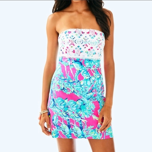 Lilly Pulitzer Brynn Lobsters in Love Strapless